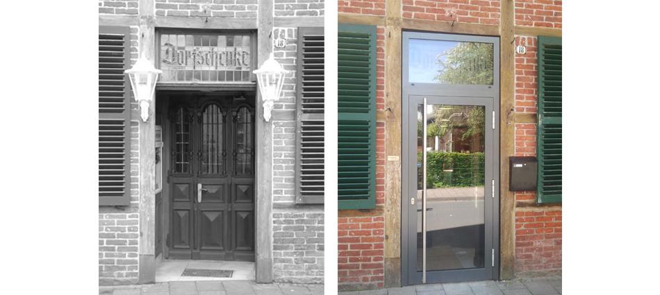Tür alt und neu